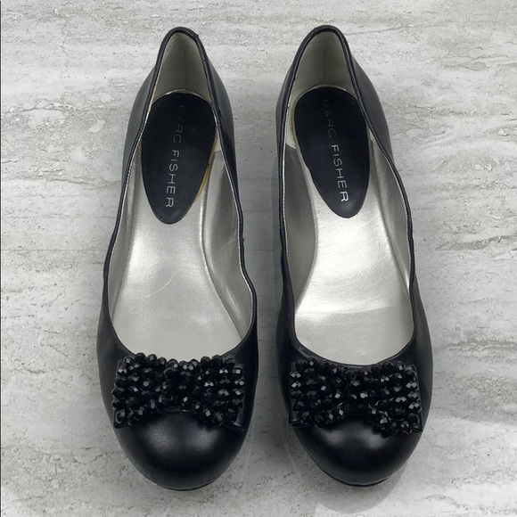 Marc Fisher Shoes - Marc Fisher Black Leather Flats Size 11